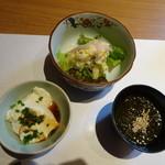 博多和食 いしくら - ◆最初に小鉢3種。