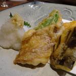 博多和食 いしくら - *鯛・カボチャ・茄子、ししとうなど。
