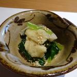 博多和食 いしくら - ◆お揚げと小松菜の煮びたし風。 これも優しい味わい。
