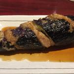 よこよこ - 肉詰めローリング茄子の揚げびたし(260円)