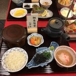 73768864 - 鯛茶朝食サンプル