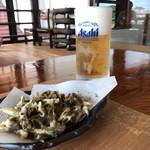 四万十屋 - ゴリの唐揚げとビール