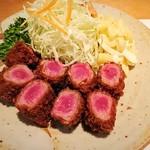 ますの - 料理写真:仔羊肉のステーキ風かつ