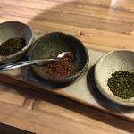 175°DENO〜担担麺〜 - 花椒三種盛り