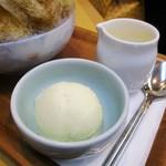 ささやなぎ - Fクリーム金時・レモン抜き 800円(税込)クリームは別皿でお願いしました。     2017.09.26