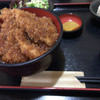 蒼屋 - 料理写真:普通のソースカツ丼セット。サラダ、小鉢、お味噌汁付き。サラダのドレッシングも、おいしい!