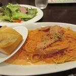 テルチャン - 渡り蟹のトマトクリームパスタ