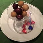 ワインレストラン ドミナス - うずら卵の燻製