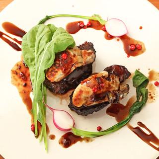 【大地と海のミネラル】牛ほほ肉の煮込み牡蠣とのマリアージュ
