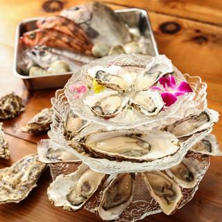 産地から毎日直送で仕入れる厳選の極上牡蠣をご堪能あれ