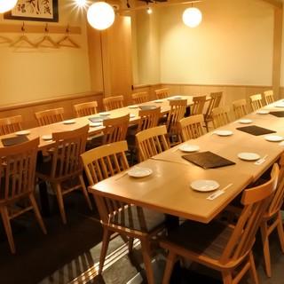 各種団体の宴会ご予約に人気の最大30名様迄の個室は予約必須!