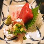 ワインハウス 南青山 - マグロ、スズキ、真アジ 670円