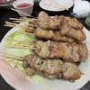 ヤキトリ ゼン - 料理写真:此処からはお餅かねの串焼きタイム、最初は豚バラから。  豚バラは大きくボリュームたっぷり。