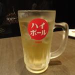 鉄板焼き居酒屋 鉄神 - ドリンク写真:ジョニーウォーカーハイボール(518円)