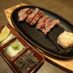 鉄板焼き居酒屋 鉄神 - 黒毛和牛ステーキ(1,490円)