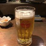 魚町屋 ぶぶか - 2017年09月23日  オリオン生ビール 450円