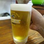 生麺焼そば こなひろ - 生ビール(中) 500円