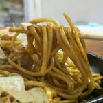 生麺焼そば こなひろ - 茹でたて生麺を冷水で締めてます