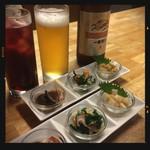 居酒屋いっぷく - ビール&カシス&お通し
