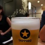日本の中華そば富田 - 生ビール