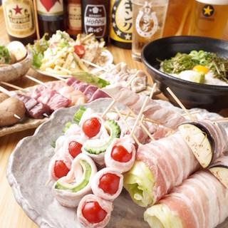 新鮮素材と手づくり料理!自慢の串焼きは1本100円~☆