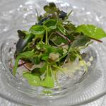 銀座レカン - ナスとナシのサラダ