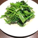 四川料理 芙蓉麻婆麺 - 空芯菜炒め