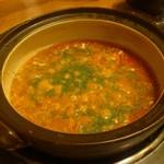 赤から - 料理写真:赤から鍋~今回の〆はチーズリゾットです。(2017年9月)