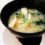 73795703 - 【原始焼 定食】   お味噌汁