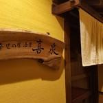 幸せの居酒屋 喜泉 - エレベーターホールより店前