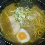 さっぽろ麺屋 文太郎 - カレーラーメン麺をひっぱりだし