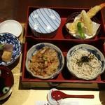 そば茶屋 華元 本膳庵 - 華本膳(そば・炊き込みご飯・お吸い物・天ぷら・煮物・甘味和菓子)