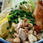 自家製麺 鶏八朗 - 昨年のつけ郎には無かった細かく刻んだ鶏肉が増えてました!