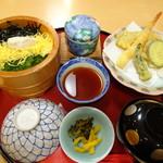 石蔵 - ◆鯛めし・天ぷらランチ(950円) 鯛めし・天ぷら・茶碗蒸し・香の物・お味噌汁などのセット。