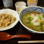 73805705 - 炒飯&白菜ラーメン