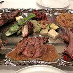トラットリア デル チェーロ - 子猪の色々盛り合わせです。各部位に応じて料理法を変えて供されたもの。