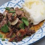 チャーンタイ レストラン - ナムトックヌア、牛すじ肉のミント和え(*事前にご注文いただくと確実です)