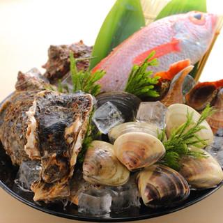 豊洲で仕入れる旬の新鮮魚介