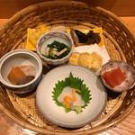 四季膳 ほしや - 籠盛りのお料理の数々