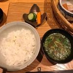 四季膳 ほしや - お味噌汁・ご飯・香の物