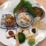 栄寿司 - 摘み盛り合わせ