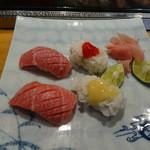寿司 料理 まるも - 大トロ・ハモ