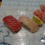 寿司 料理 まるも - 中トロとしまあじ