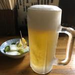 鳥源 - キンキンの生ビール