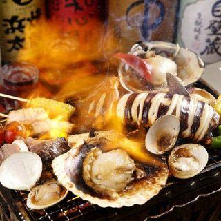 【超豪華】産地直送鮮魚をお造り、炙り焼き、浜焼きBBQで♪