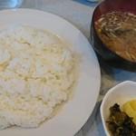 キッチンふるはし - ご飯・漬物・味噌汁