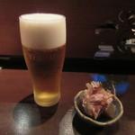 73825031 - 生ビール・お通し