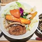 麺屋土竜 - MOGURA BLACK TSUKEMEN 800円+大盛100円