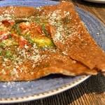 Kunitachi Tea House - セミドライトマトとジェノベーゼ、チーズのガレット♡