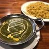 ニューエベレスト - 料理写真:ガーリックバターライスほうれん草パニールカレー